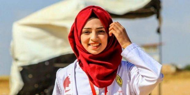 La paramedica palestinese Razan al-Najjar uccisa due settimana fa da Israele