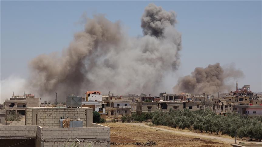 Offensiva governativa su Deraa (Fonte: Anadolu Agency)