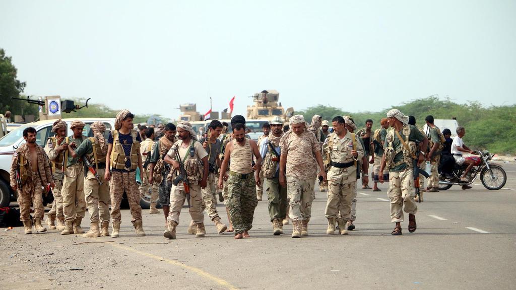 Le forze governative pronte all'assalto di Hodeidah (Foto: Epa/Najeeb Almahboobi)