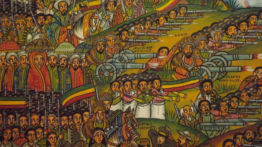 """Il dipinto etiope """"La battaglia di Adwa"""""""