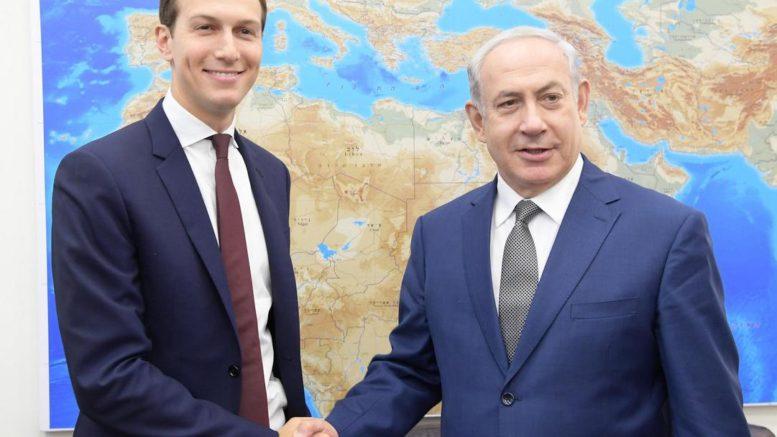 L'inviato Usa in Medio Oreinte Jared Kushner con il premier israeliano Netanyahu