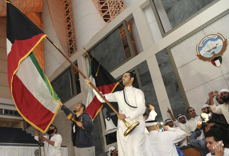 La protesta nel parlamento del Kuwait, il 16 novembre 2011