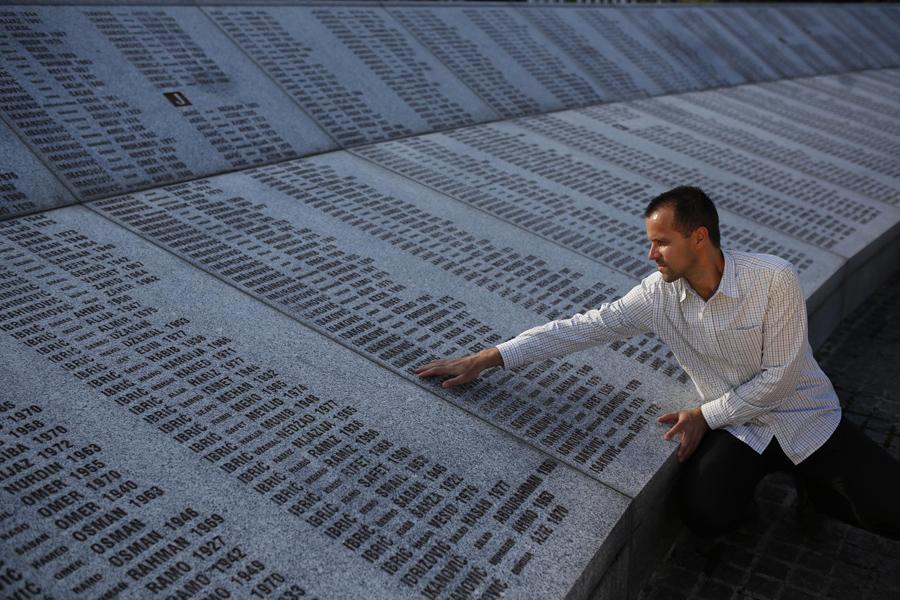Il memoriale che commemora il massacro di Srebrenica