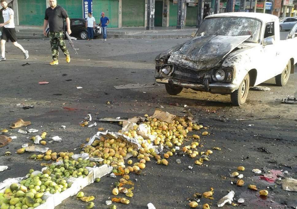 Il mercato di As-Suwayda colpito da un kamikaze (Foto: Reuters)