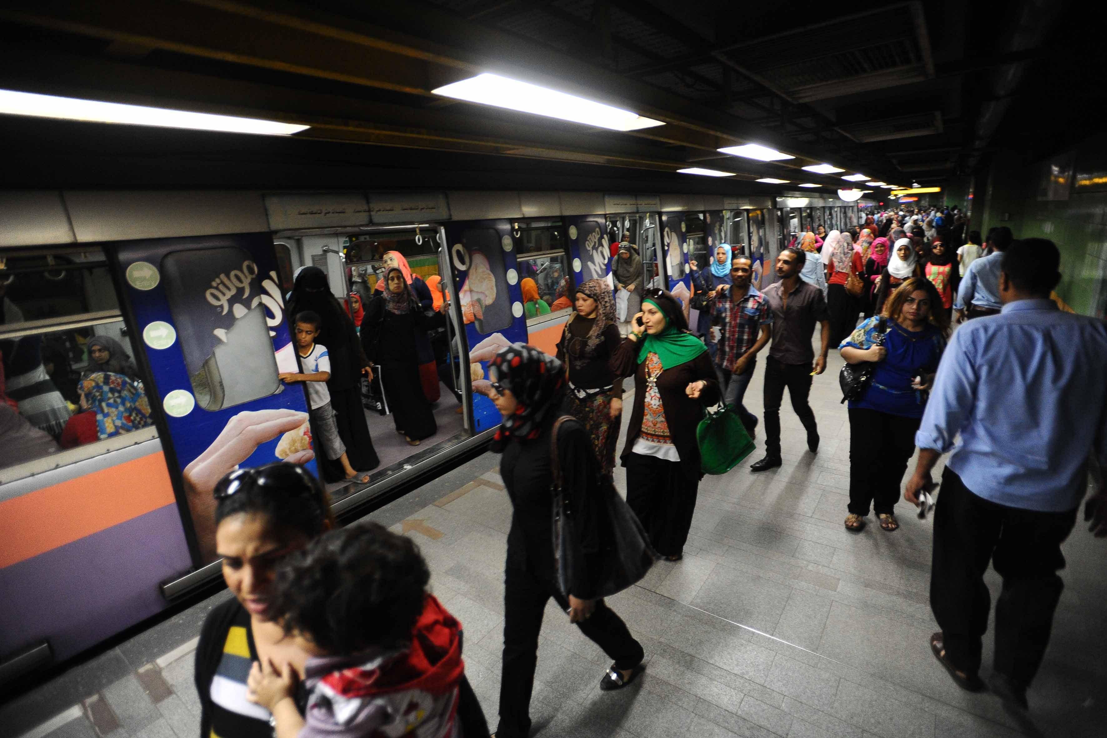 Una stazione della metro al Cairo (Foto: Ahmed Al-Malky)