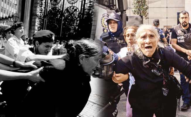 Emine Ocak, le immagini didue arresti. A destra quello dello scorso sabato