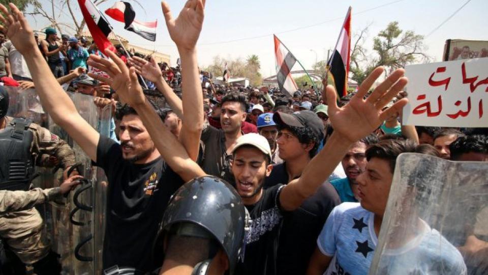 Proteste nel sud dell'Iraq