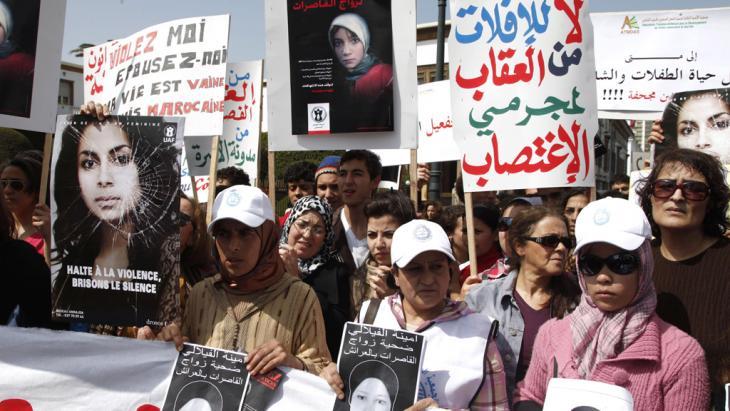 Manifestazione in Marocco contro la violenze sulle donne