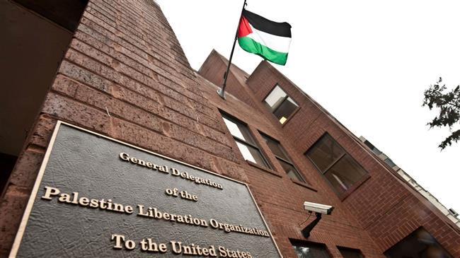 La sede della missione diplomatica palestinese a Washington