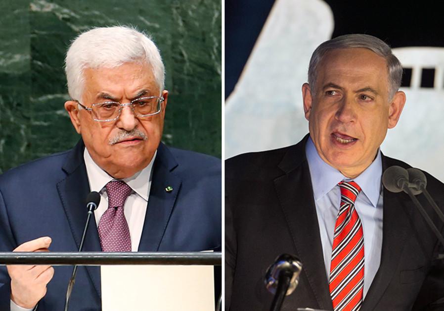 Il presidente palestinese Abu Mazen (sinistra) e il premier israeliano Netanyahu