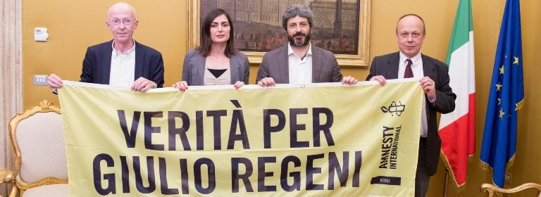 Il presidente della Camera Fico con Amnesty International Italia