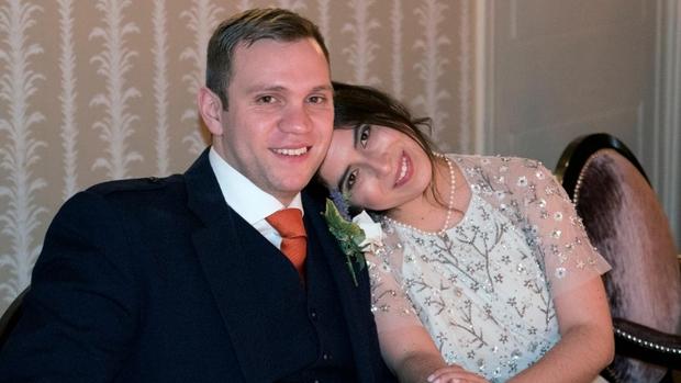 Il ricercatore Hedges con la moglie