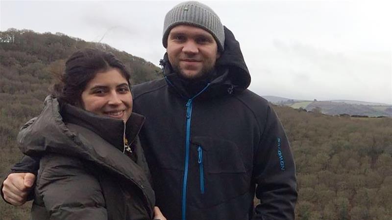 Il ricercatore Matthew Hedges con sua moglie Daniela Tejada
