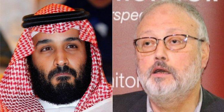 L'erede al trono saudita Mohammed bin Salman e il giornalista assassinato Jamal Khashoggi (foto Reuters)