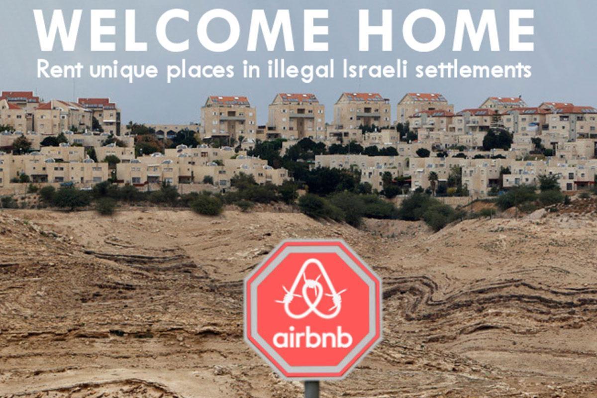 Poster di protesta contro Airbnb