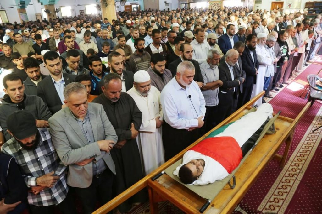 I funerali di Mostafa Abu Audeh (Foto: Palestinian Sawa News Agency)
