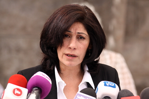 La parlamentare palestinese e dirigente del Fplp Khalida Jarrar