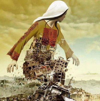 Uno dei poster realizzati per il Kobane World Day