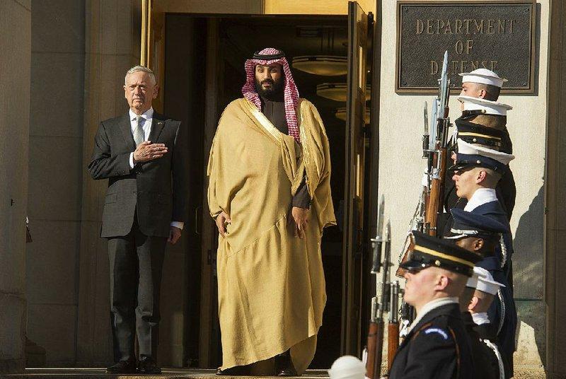 James Mattis, capo del Pentagono, con Mohammed bin Salman a Washington
