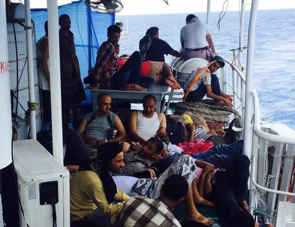 Una barca che dal Gibuti tenta di raggiungere lo Yemen (Foto: Lama Fakih/Amnesty)
