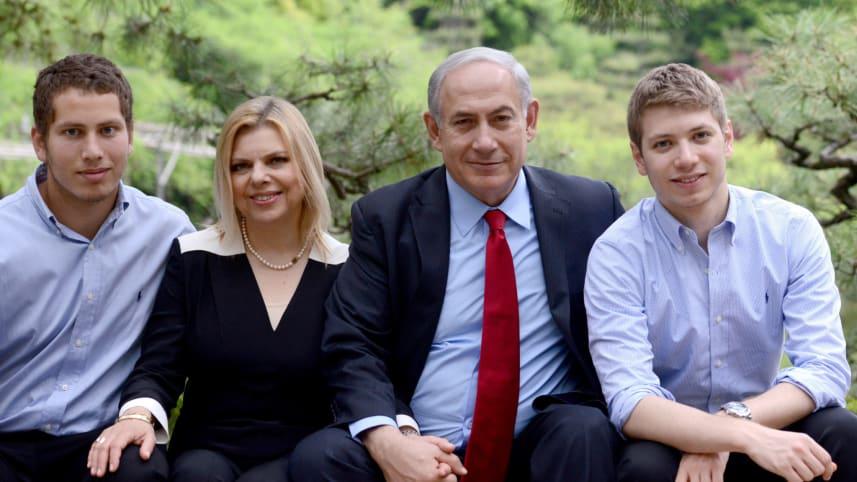 La famiglia Netanyahu, Yair è l'ultimo a destra (Foto: Gpo)