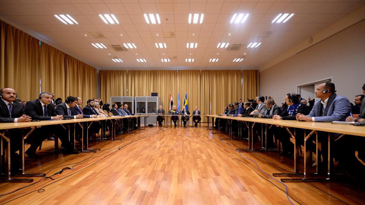 Il tavolo yemenita a Rimbo, in Svezia (Foto: TT News)