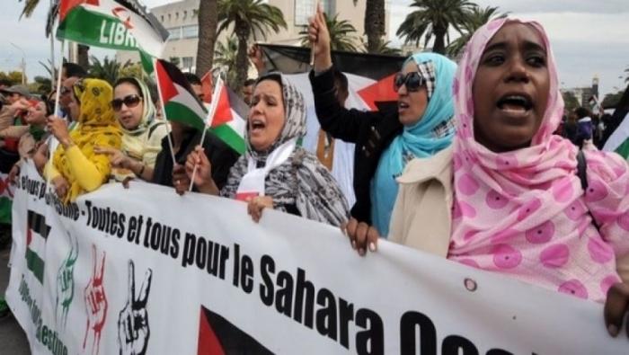 Una protesta saharawi a El Aaiun (Foto: Sahara Press Service)