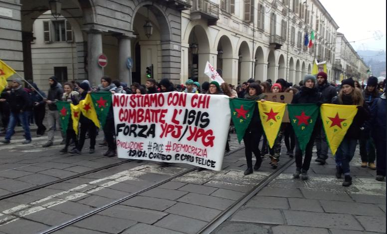 La manifestazione di Torino di sabato 19 gennaio 2019 (Fonte: Twitter)