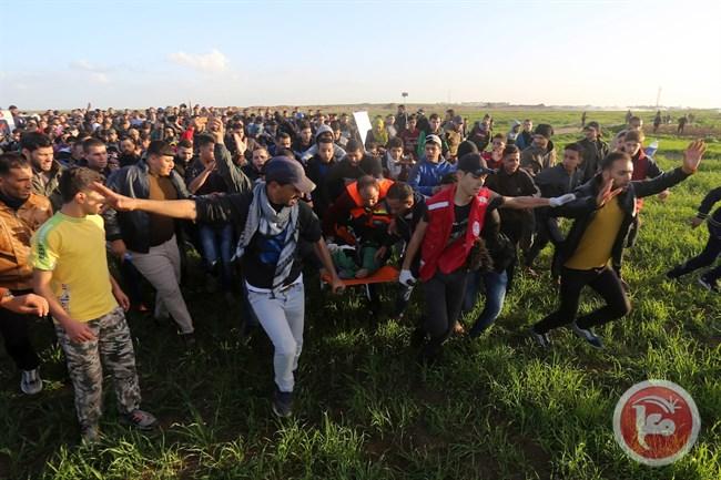 Feriti ieri alla Marcia del Ritorno (Foto: Maan News)
