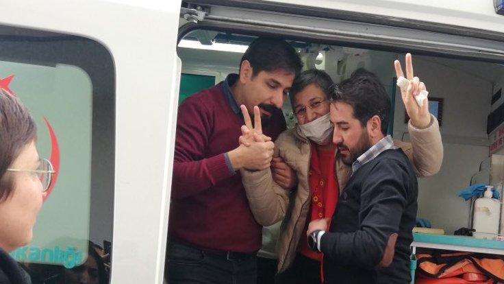 Leyla Guven al momento del rilascio