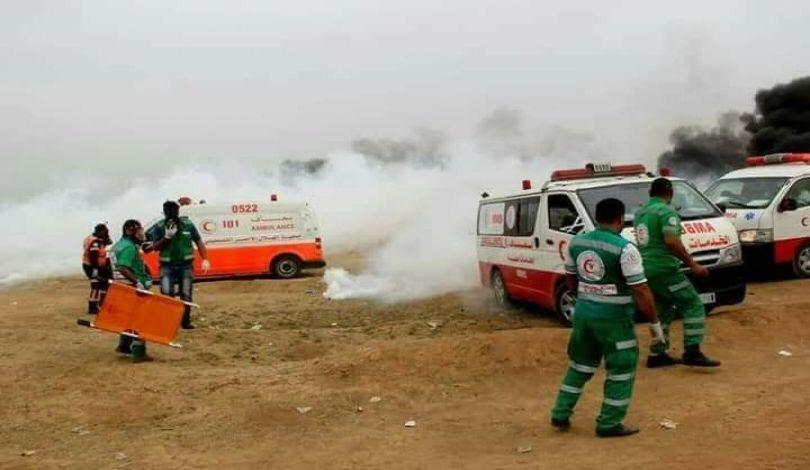 Proteste lungo il confine con Gaza. (Fonte foto: media palestinesi)
