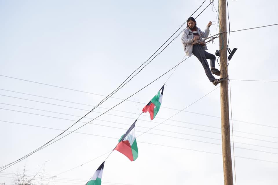 Preparativi della Grande Marcia del Ritorno. Foto Gaza Post