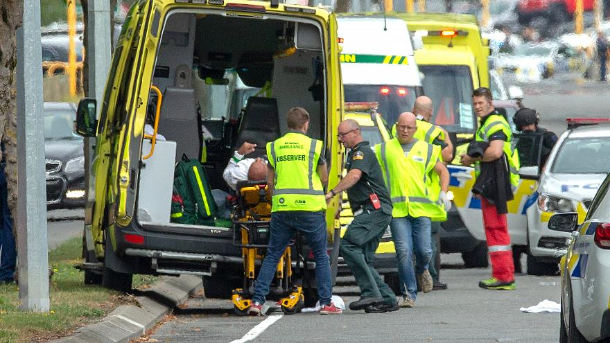 La scena del massacro ieri a Christchurch