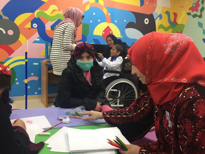 Il reparto di oncologia pediatrica al Rantisi Hospital di Gaza (Foto: Michele GiorgioNena News)