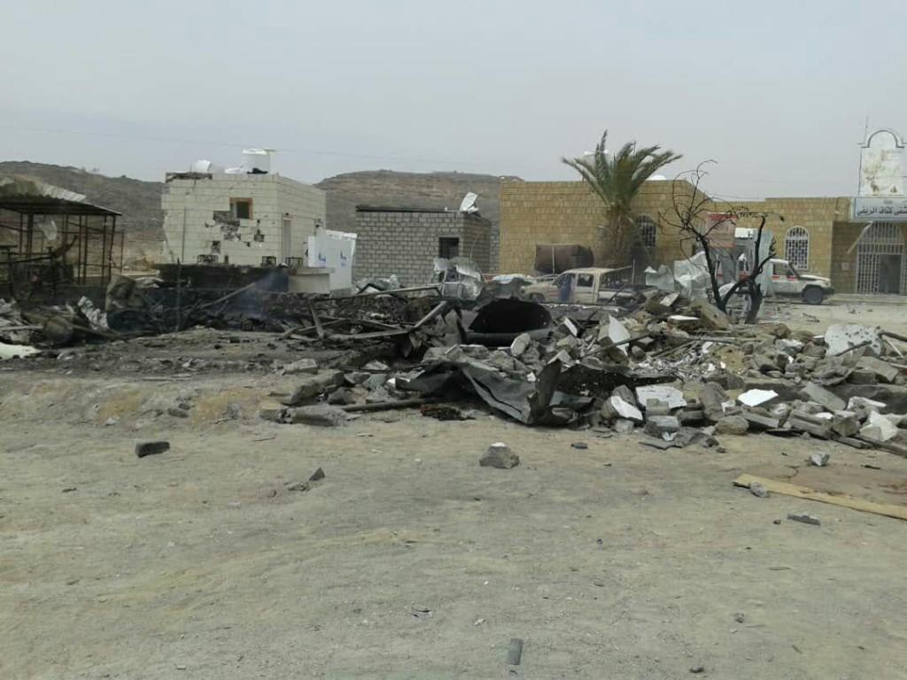 Il distributore di benzina colpito a 50 metri dall'ospedale (Foto: Save the Children)