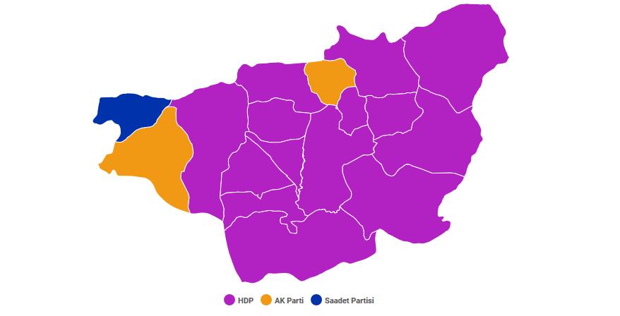 Nella provincia di Diyarbakir l'Hdp ha conquistato la grande maggioranza dei seggi