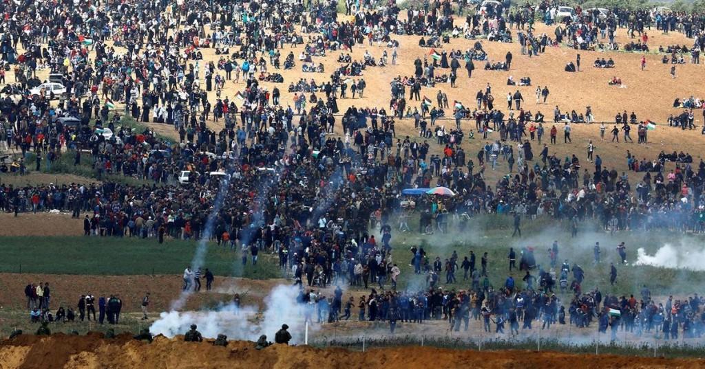 Proteste della Marcia del Ritorno (Foto: Reuters)