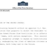 YEMEN. Trump mette il veto alla fine della guerra