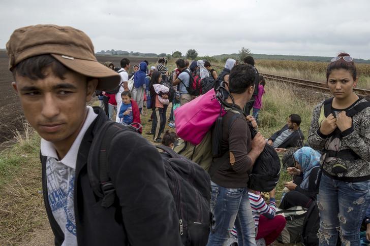 Gruppo di migranti al confine con la Serbia, settembre 2015. (Foto: Marko Djurica/Reuters)
