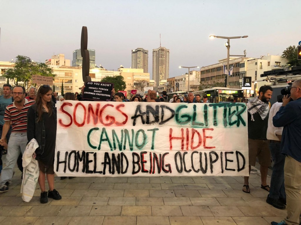 La protesta di ieri a Tel Aviv (Foto: Alice Baroni/Nena News)