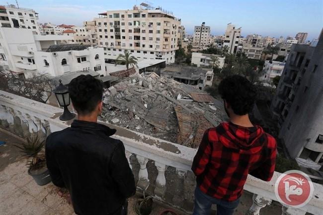 Un palazzo raso al suolo a Gaza City (Foto: Ma'an News)