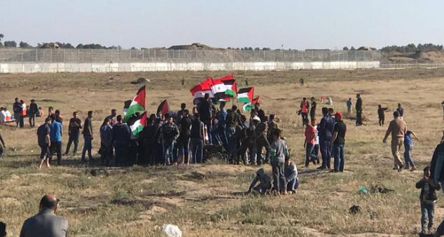La marcia del ritorno ieri dedicata al Golan siriano  (Fonte: Twitter)