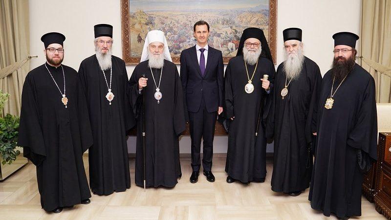 La visita del patriarca ortodosso serbo Irinej al presidente siriano Assad