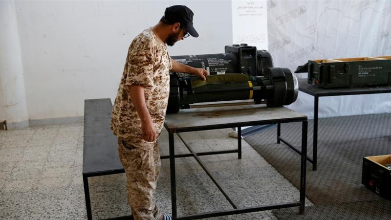 I missili Javelin trovati a Gharian (foto Reuters)