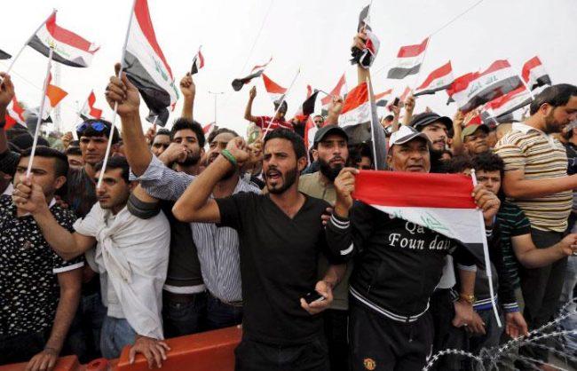 Proteste a Bassora (Foto: Iraqi news)
