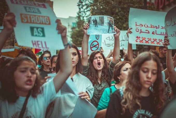 Marcia delle donne ieri a Ramallah (Fonte foto: social media)
