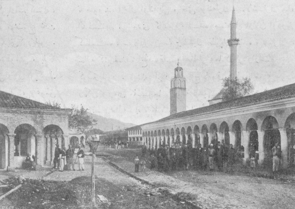 Tirana nel 1908 (Fonte foto: archivio ottomano di Istanbul)