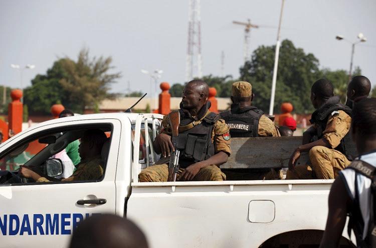 L'esercito per le strade di Ouagadougou, Burkina Faso