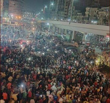 Mahalla, centro operaio egiziano, in piazza contro al-Sisi (Fonte: Twitter)