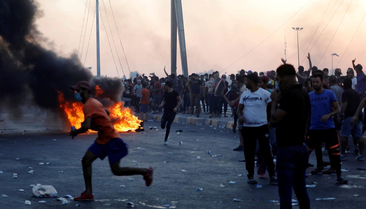 Proteste a Baghdad a inizio ottobre (Foto: Reuters)